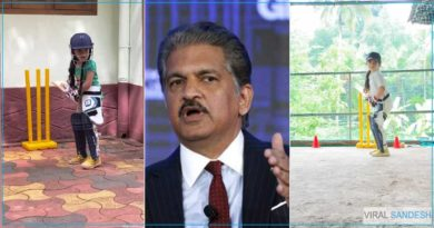 Anand Mahindra impressed by young girl hitting six-four