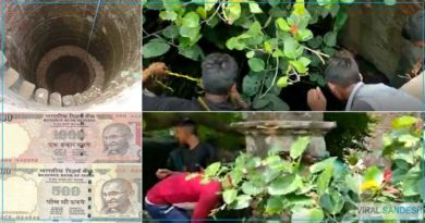 Dry Well in kanpur Spewing Indian Rupees