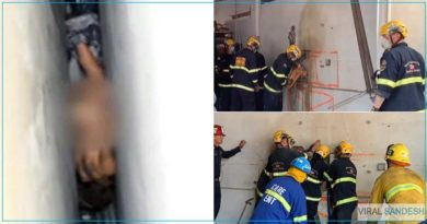 woman trapped in building