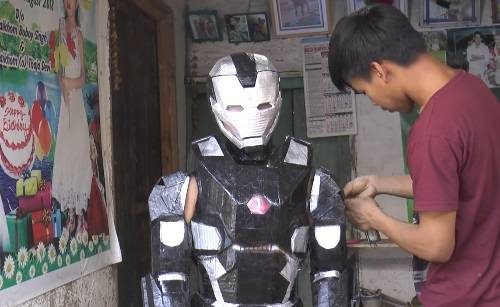 Iron man suit made by boy 1