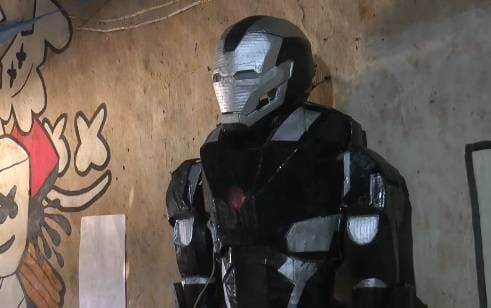 Iron man suit made by boy 4